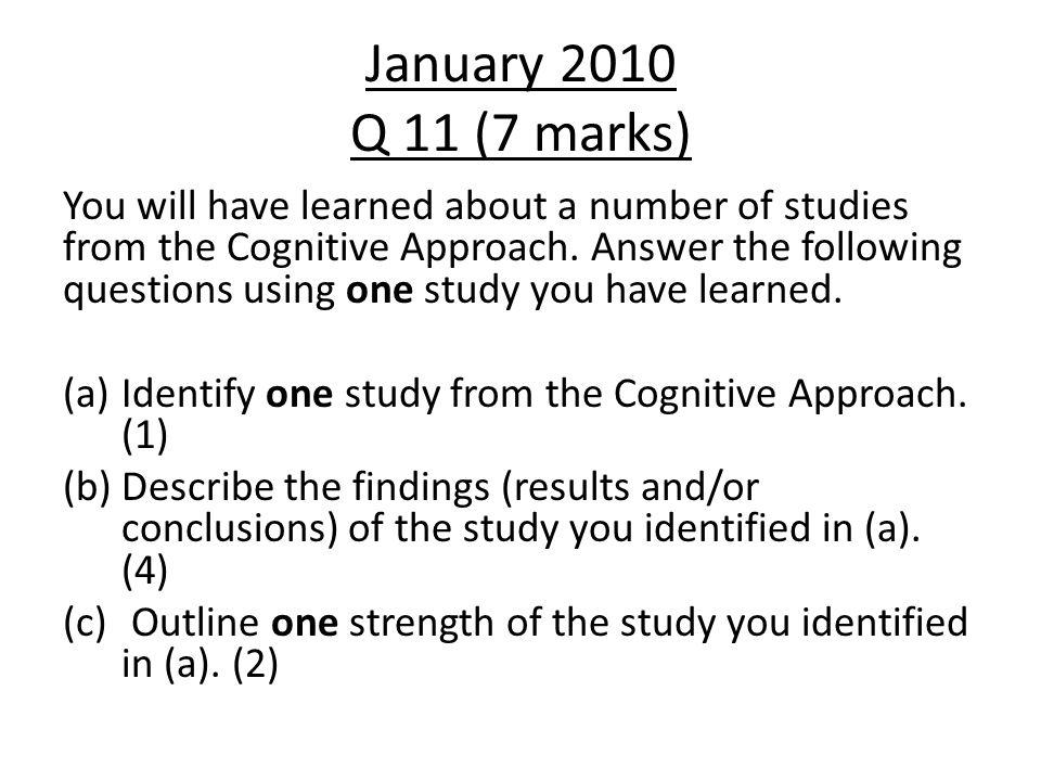 January 2010 Q 11 (7 marks)