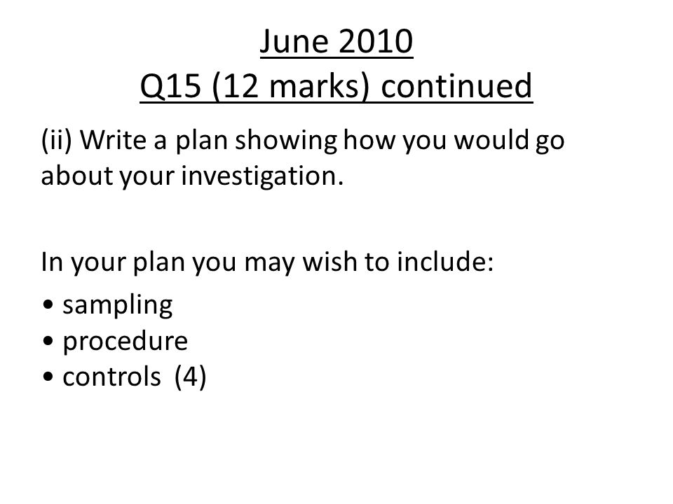 June 2010 Q15 (12 marks) continued