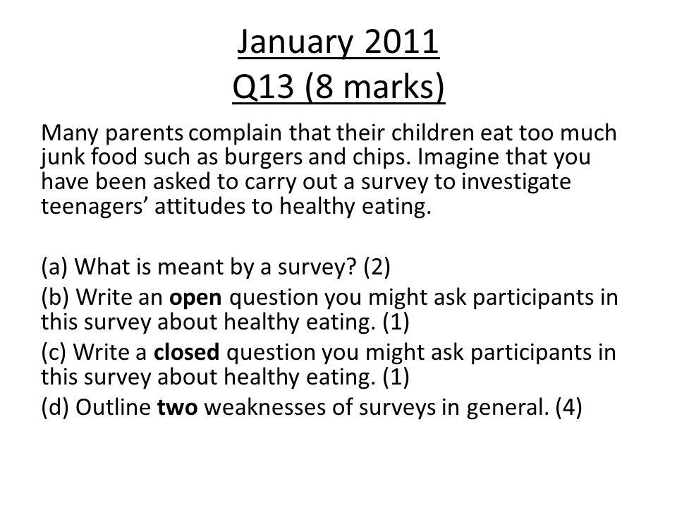 January 2011 Q13 (8 marks)
