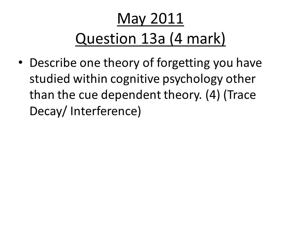 May 2011 Question 13a (4 mark)