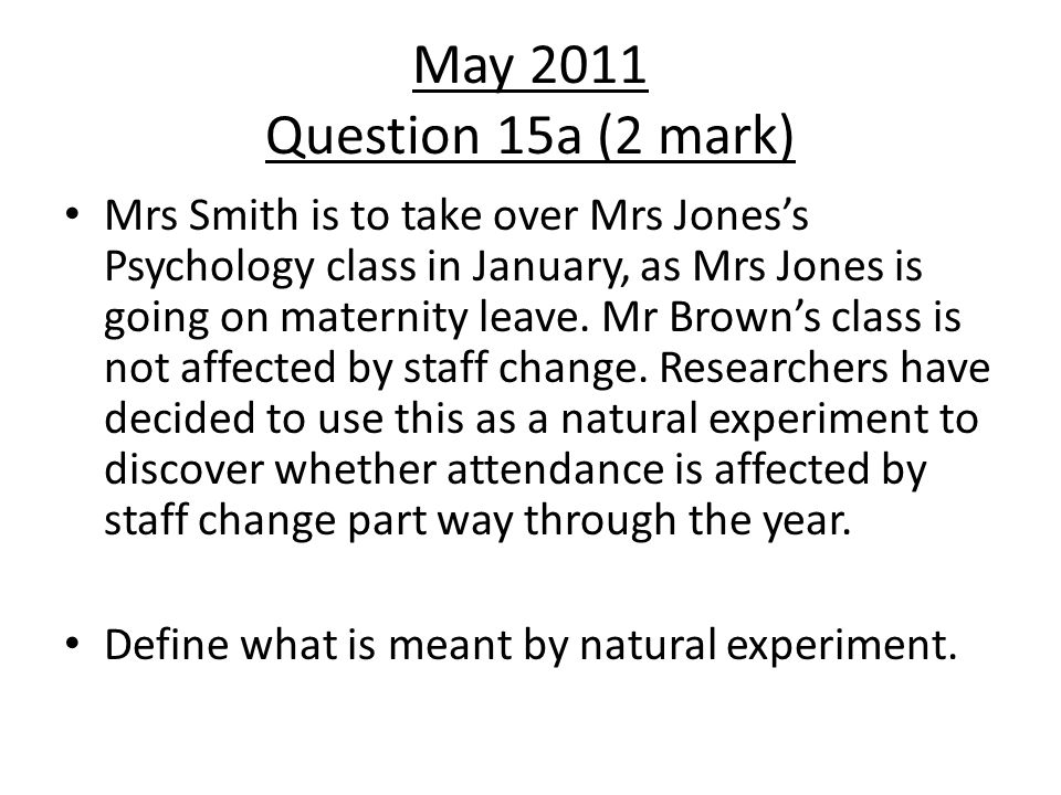 May 2011 Question 15a (2 mark)