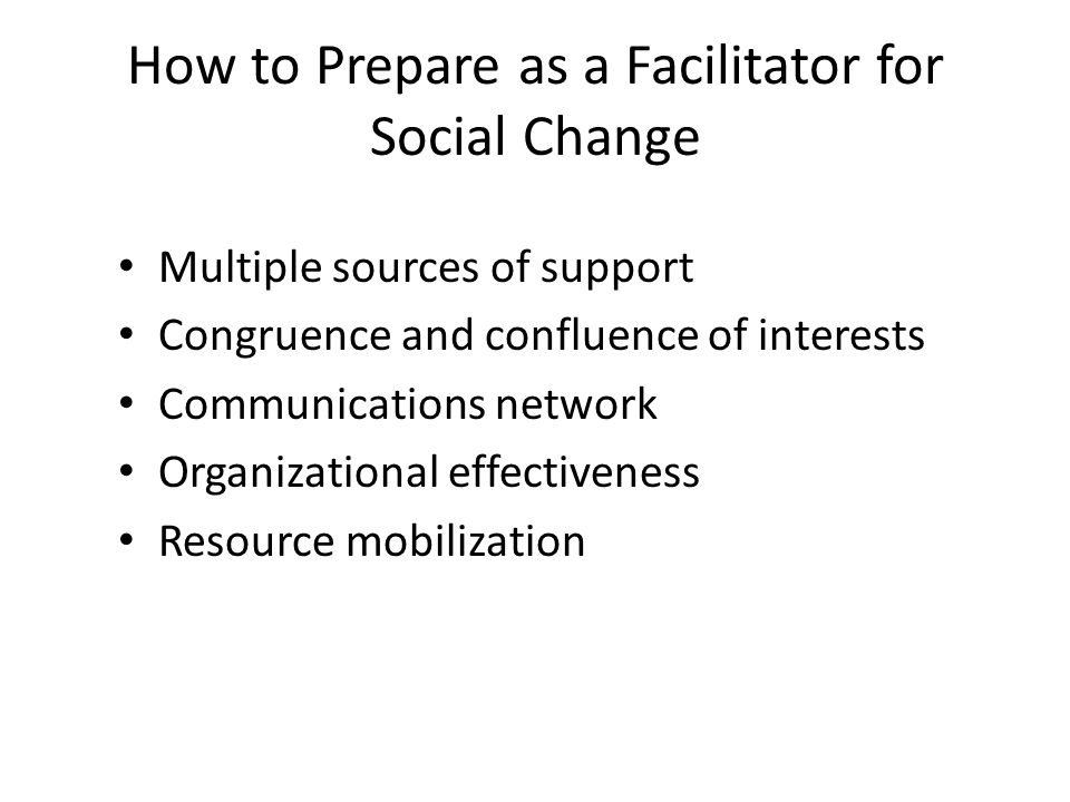 How to Prepare as a Facilitator for Social Change