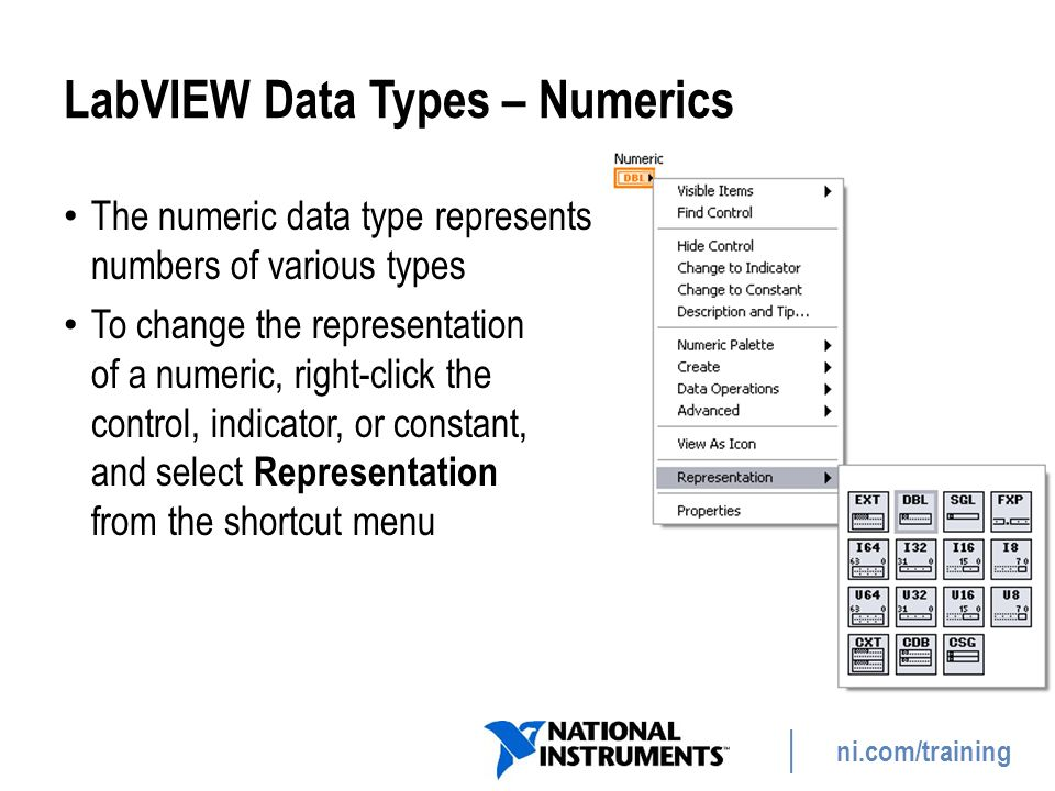 LabVIEW Data Types – Numerics