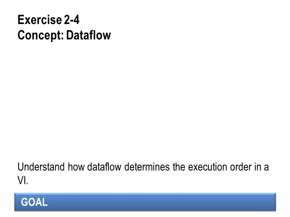 Exercise 2-4 Concept: Dataflow