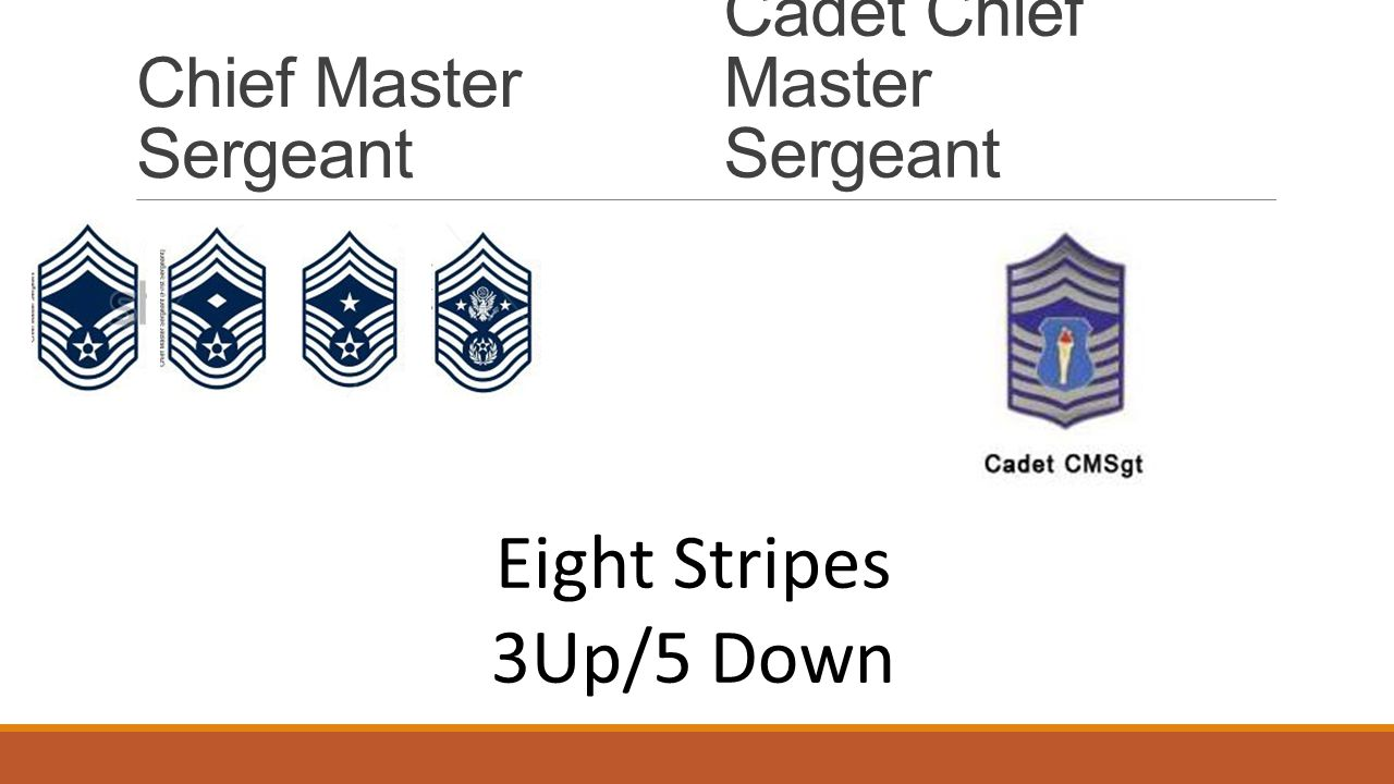 Eight Stripes 3Up/5 Down Chief Master Sergeant