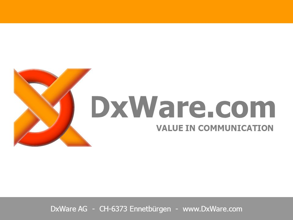 DxWare.com VALUE IN COMMUNICATION