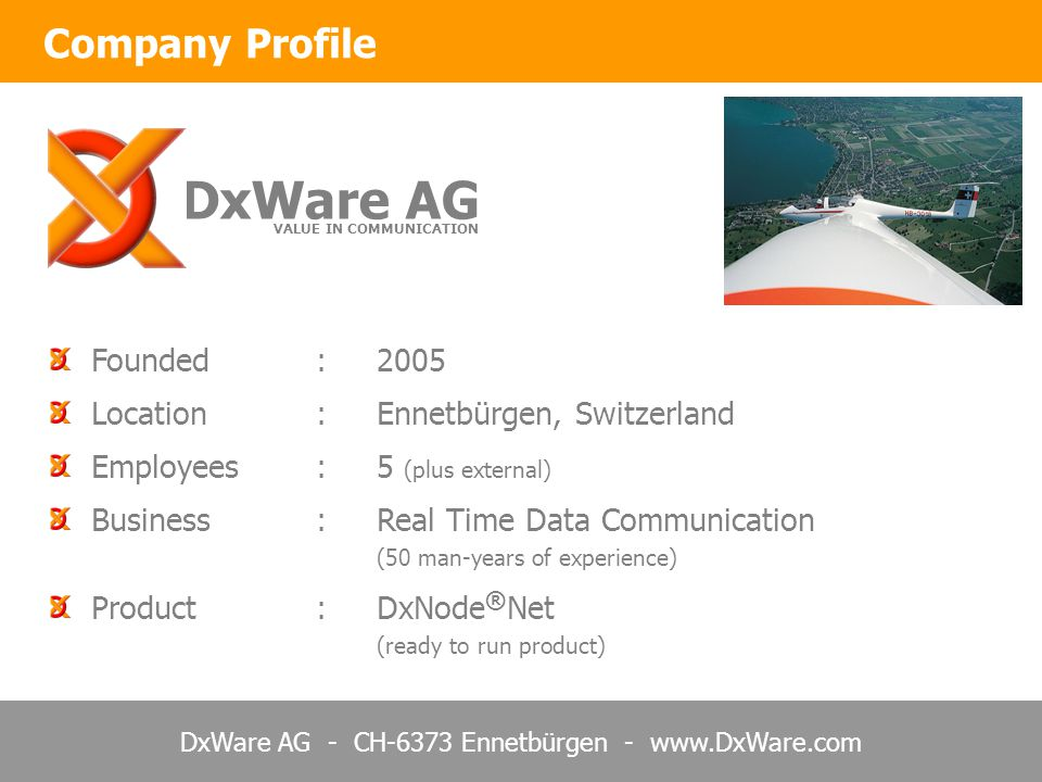 DxWare AG Company Profile Founded : 2005