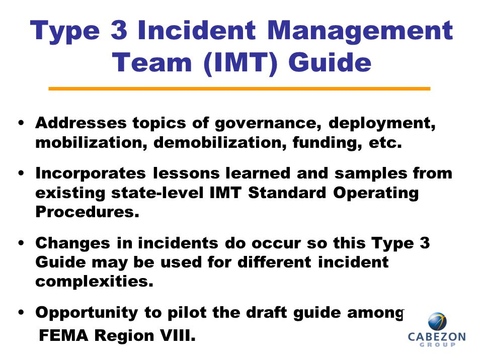 Type 3 Incident Management Team (IMT) Guide