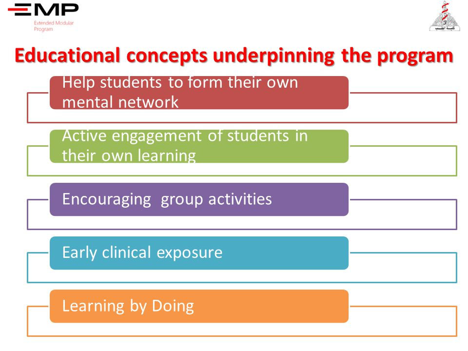 Educational concepts underpinning the program