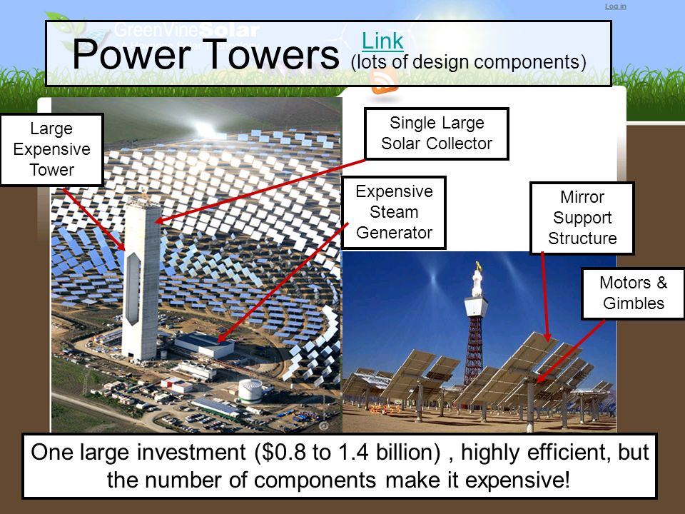 Power Towers (lots of design components)