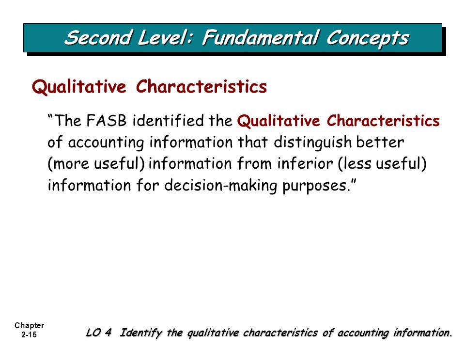 Second Level: Fundamental Concepts
