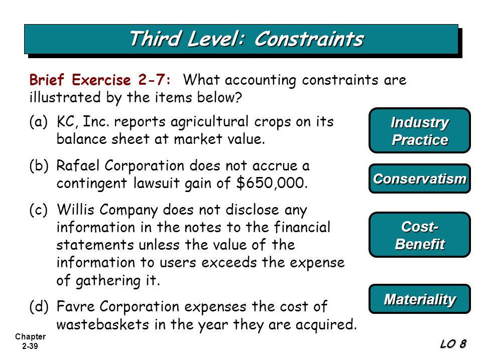 Third Level: Constraints