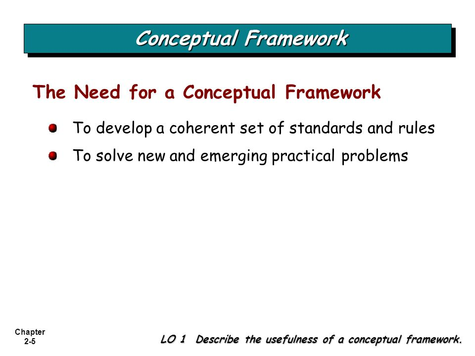 Conceptual Framework The Need for a Conceptual Framework