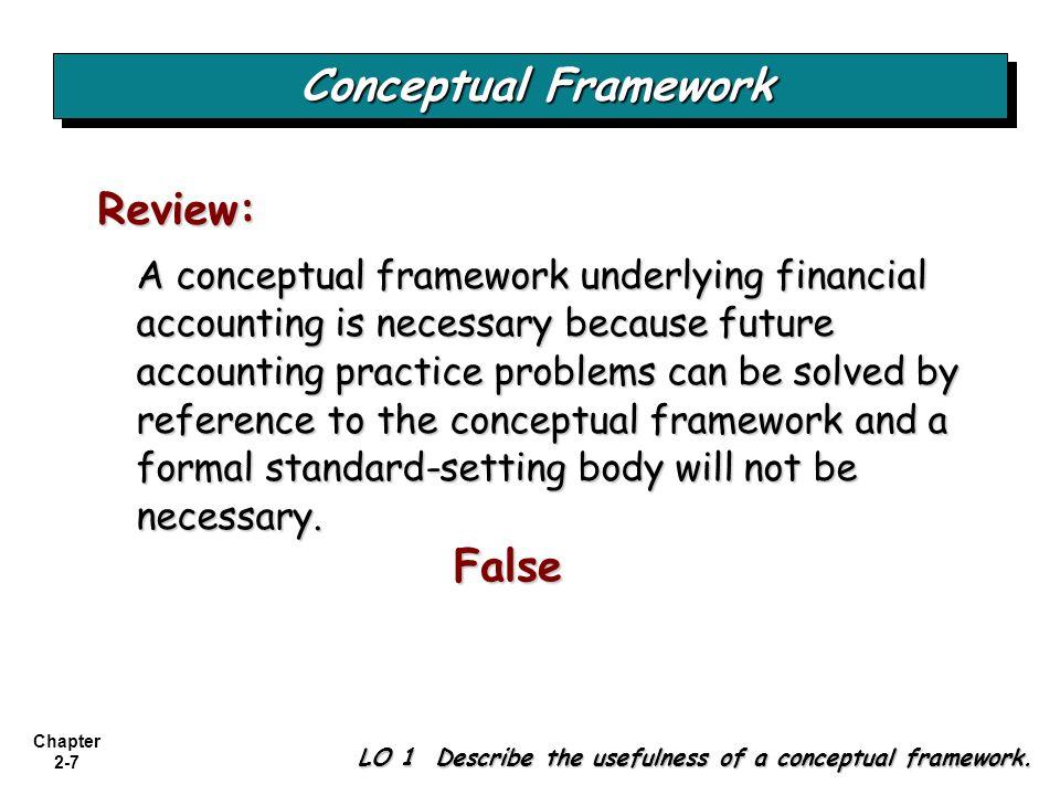 Conceptual Framework False