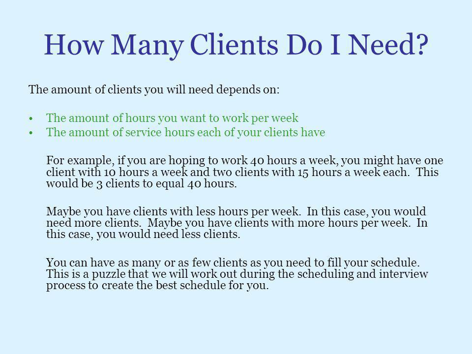 How Many Clients Do I Need