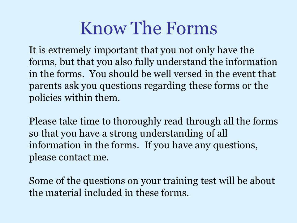 Know The Forms