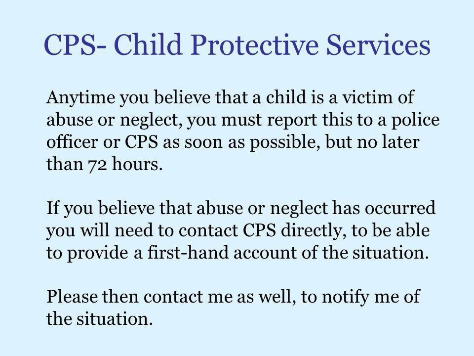 CPS- Child Protective Services