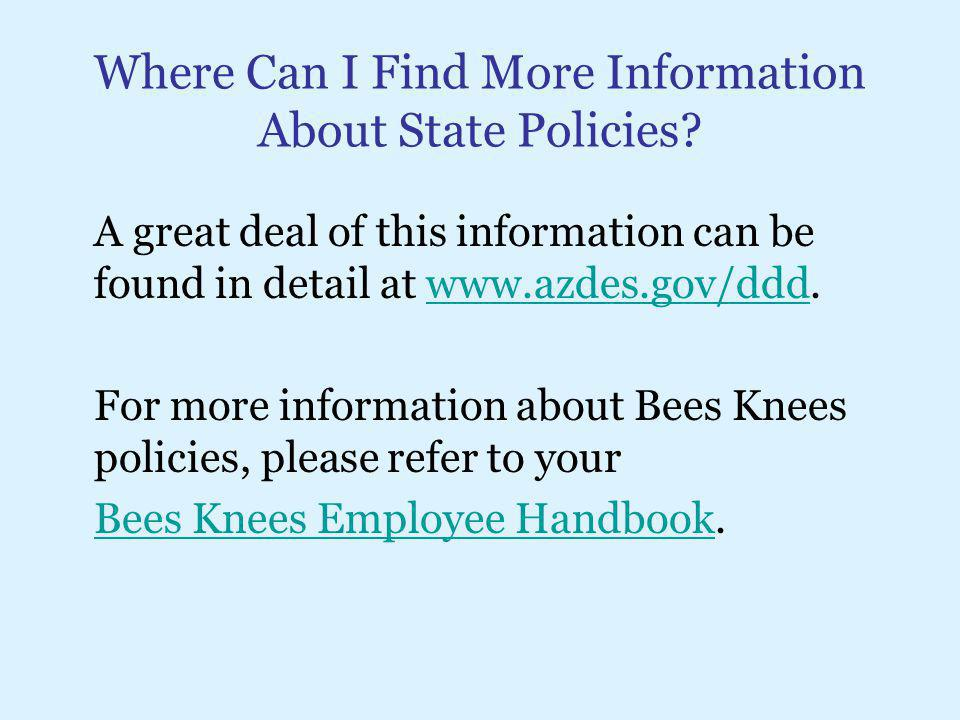 Where Can I Find More Information About State Policies