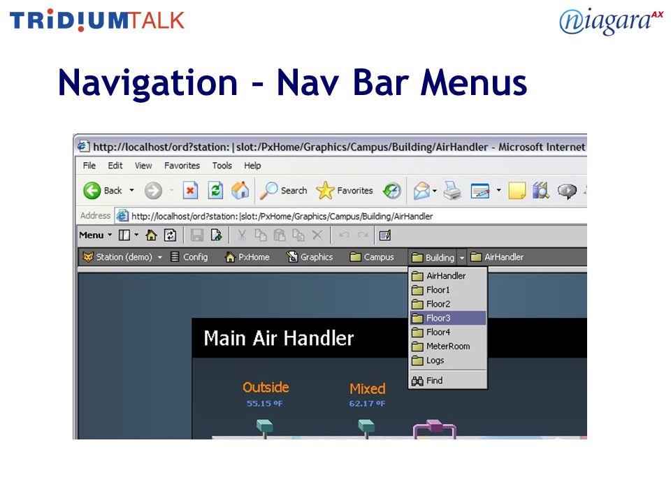 Navigation – Nav Bar Menus