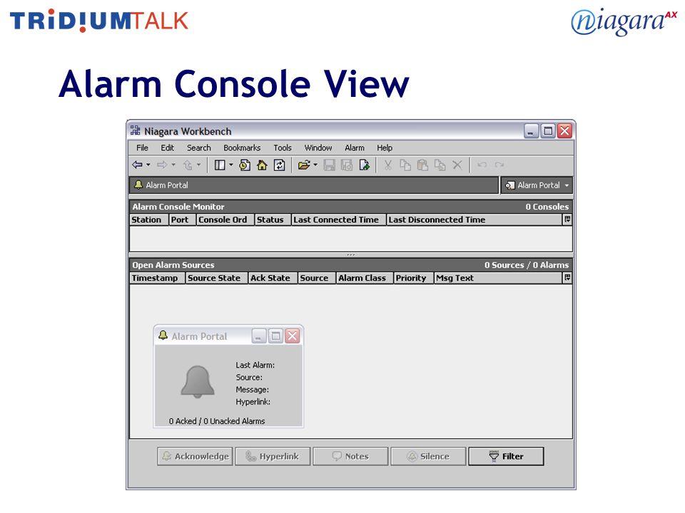 Alarm Console View