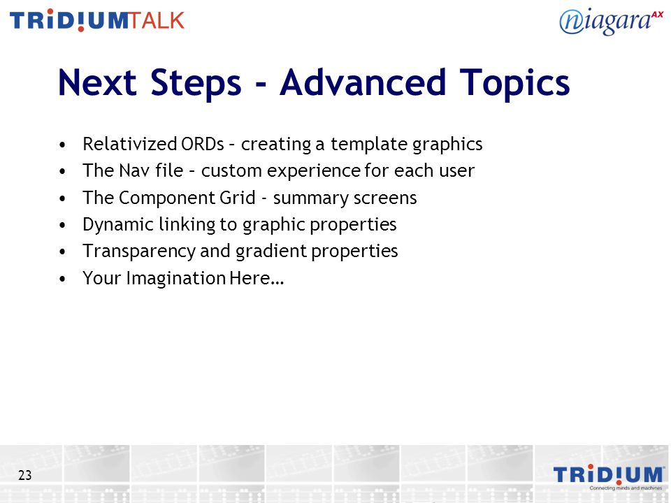 Next Steps - Advanced Topics