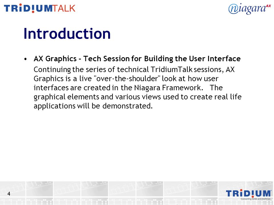 Introduction AX Graphics - Tech Session for Building the User Interface.