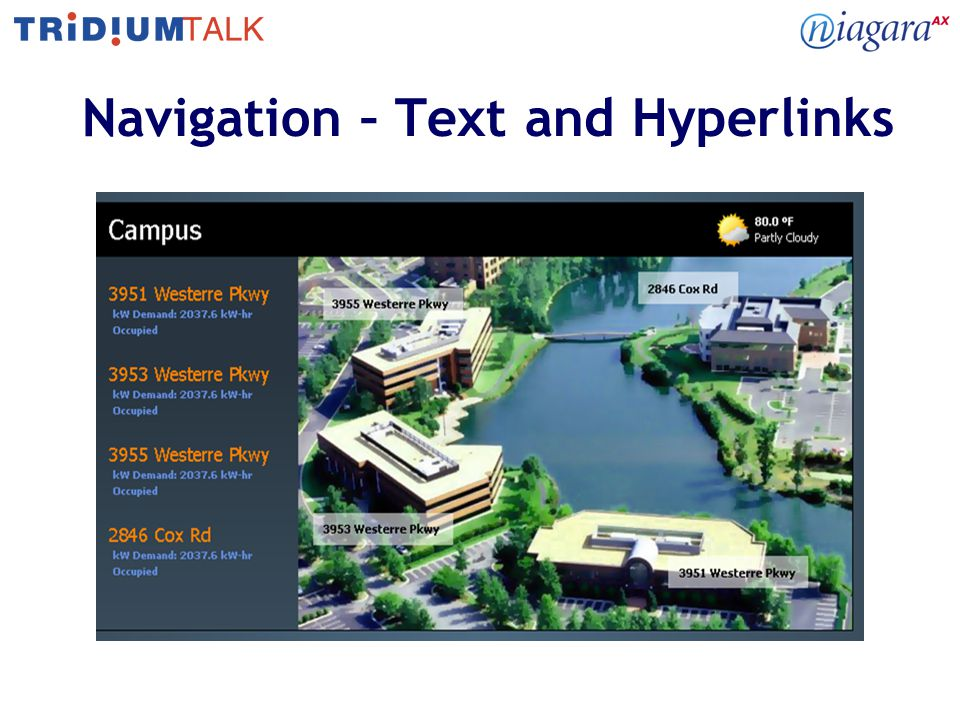 Navigation – Text and Hyperlinks