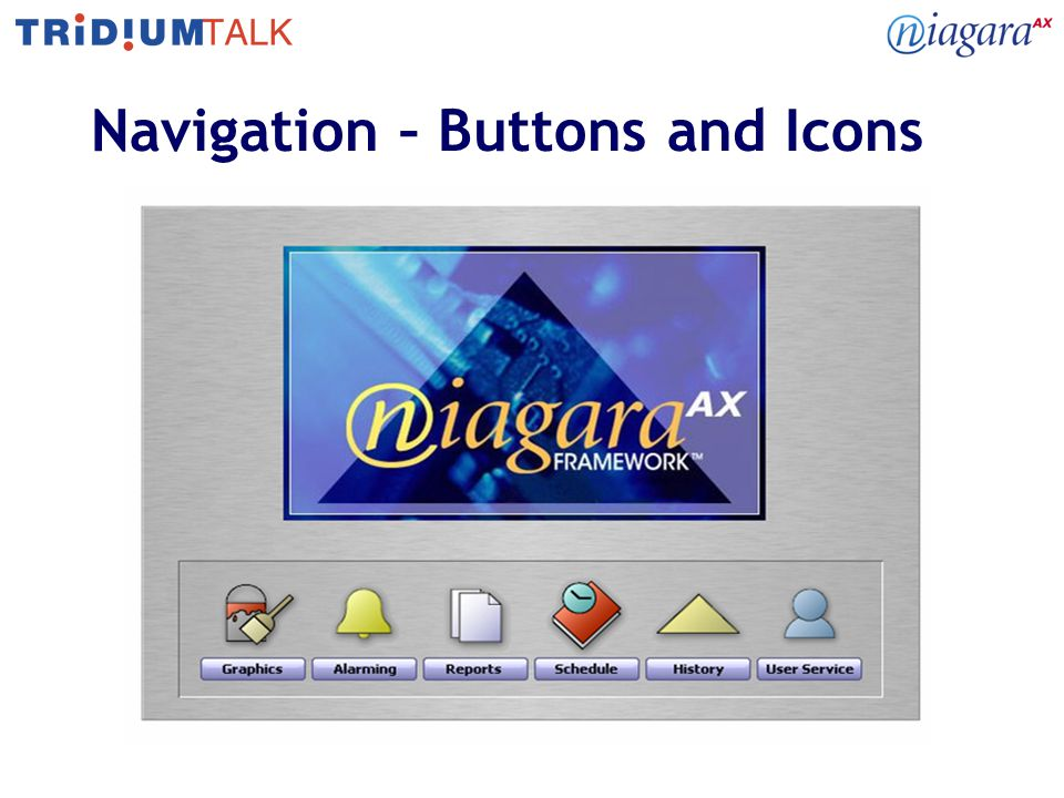 Navigation – Buttons and Icons