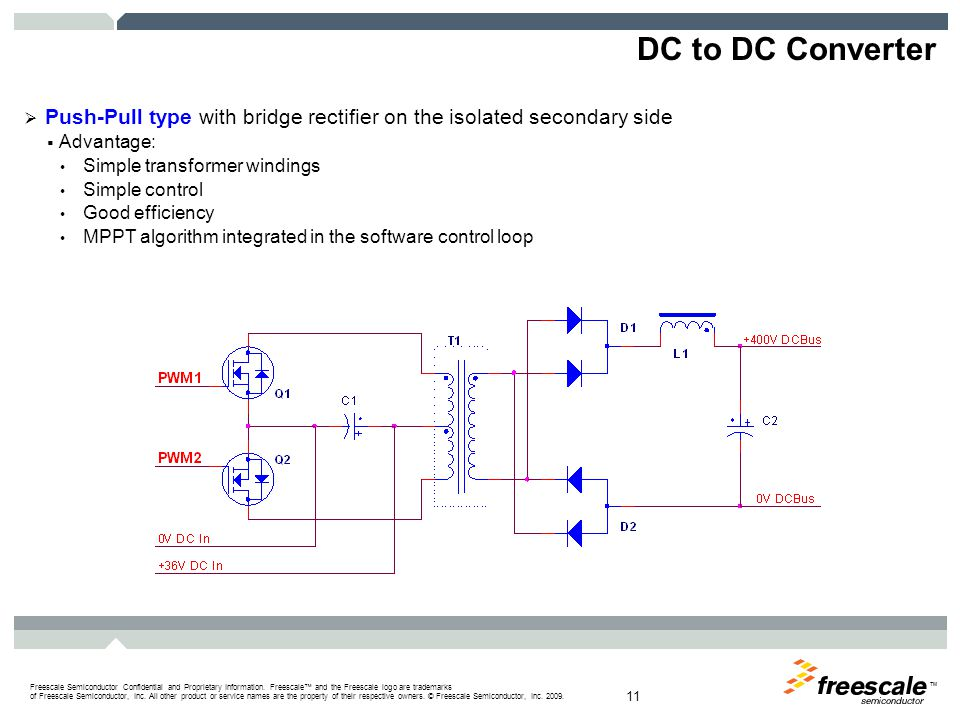 DC to DC Converter Push-Pull type control signals: