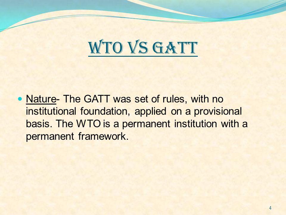 WTO VS GATT
