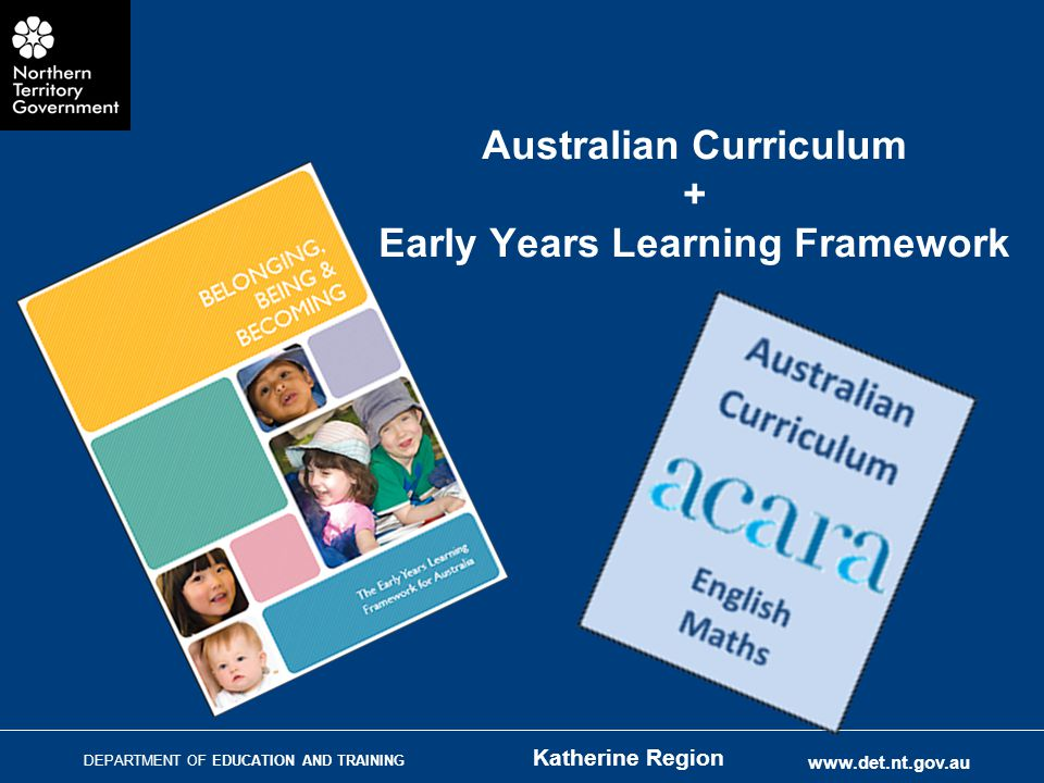 Australian Curriculum + Early Years Learning Framework