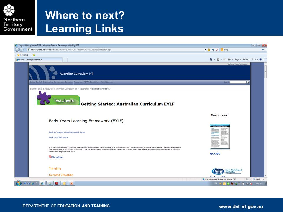 Where to next Learning Links
