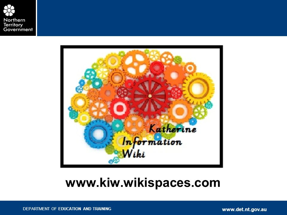 This wiki has been created by the Katherine Regional Office team, led by Georgina Gunson. The aim is to provide a one-stop-shop for Katherine teachers to access all the documents and sites related to Australian Curriculum, T-9 Net, Early Years, EAL/D etc. This wiki is a work in progress, so please  if you have any suggestions, if you find any part hard to navigate, or if there's something you'd expect to be there that is not. We want this to be a very useful tool that saves teachers time in hunting through links.