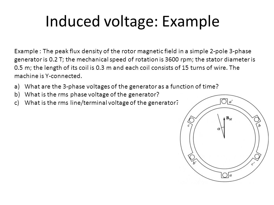 Induced voltage: Example