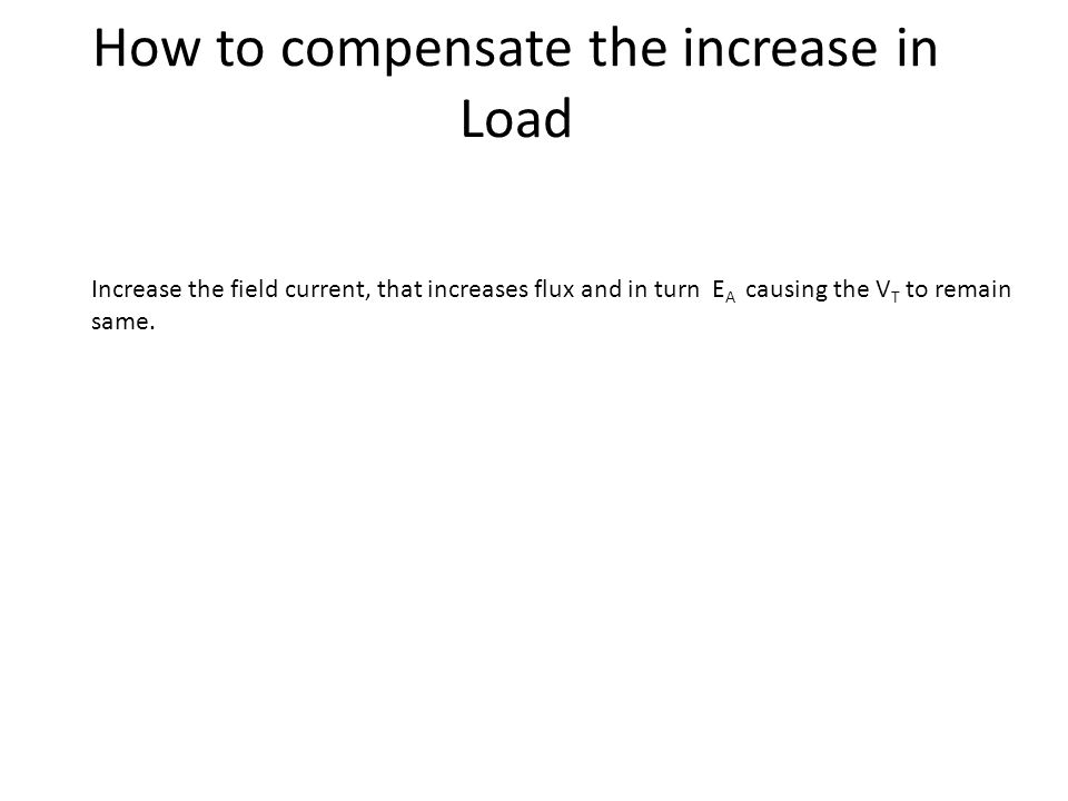 How to compensate the increase in Load