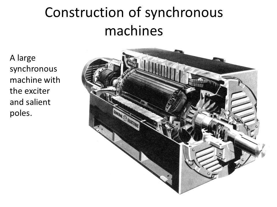 Construction of synchronous machines
