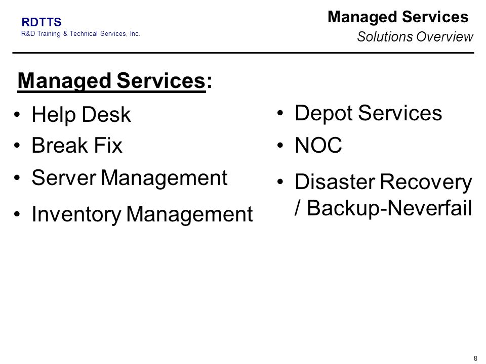 Disaster Recovery / Backup-Neverfail