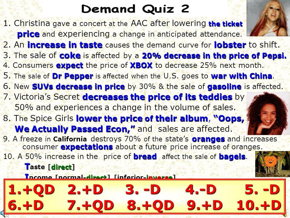 1.+QD 2.+D 3. -D 4.-D 5. -D 6.+D 7.+QD 8.+QD 9.+D 10.+D