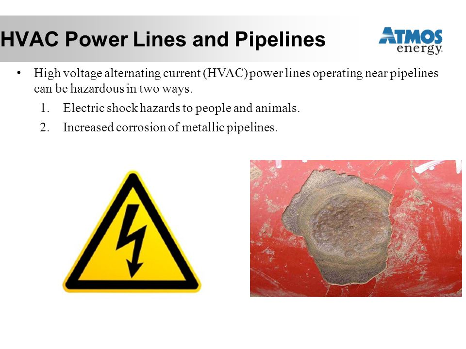 HVAC Power Lines and Pipelines