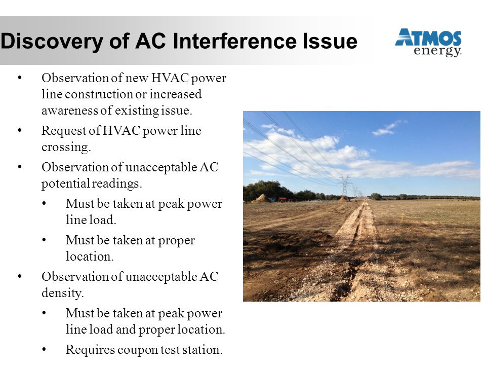 Discovery of AC Interference Issue