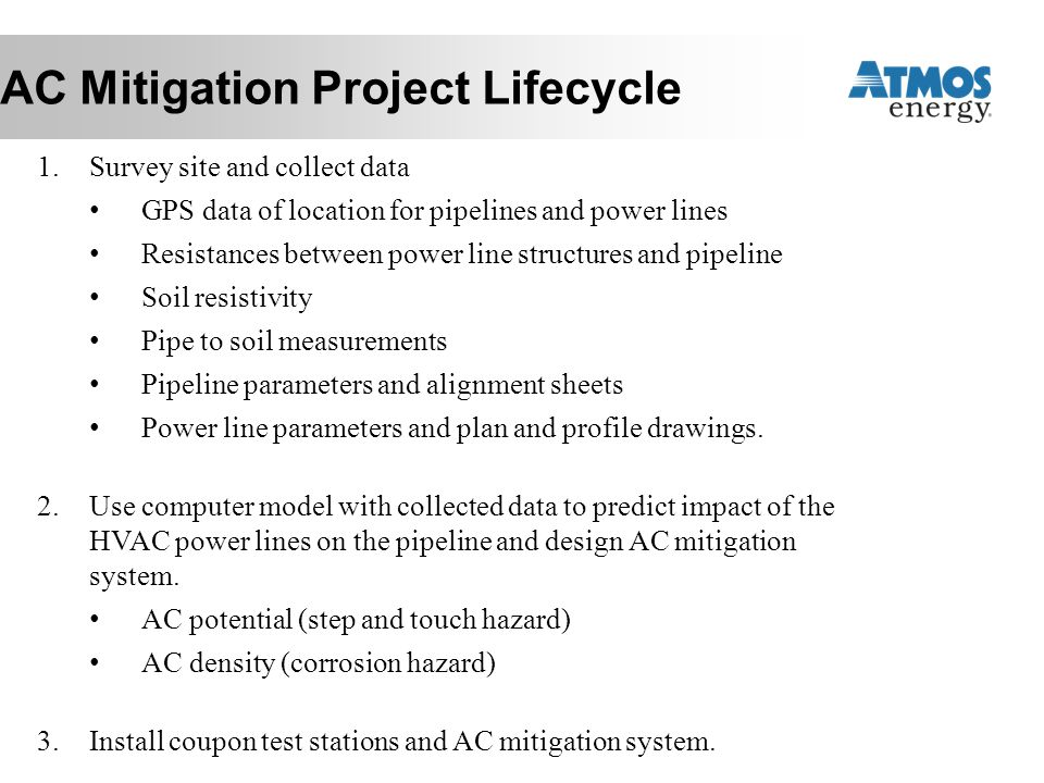 AC Mitigation Project Lifecycle
