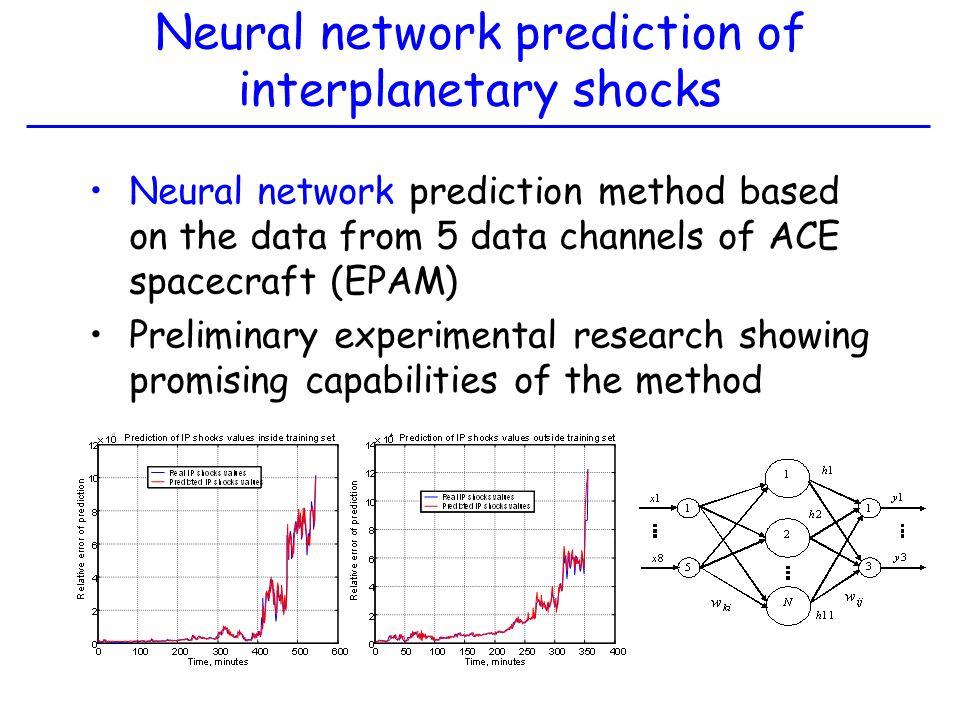 Neural network prediction of interplanetary shocks