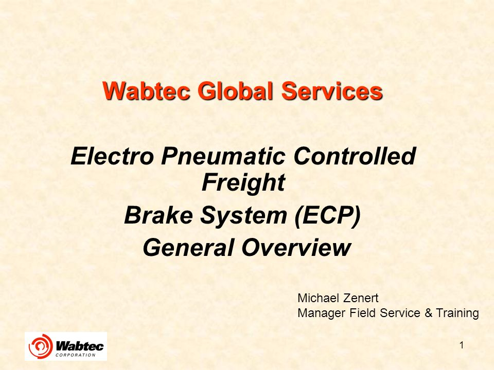 Wabtec Global Services Electro Pneumatic Controlled Freight