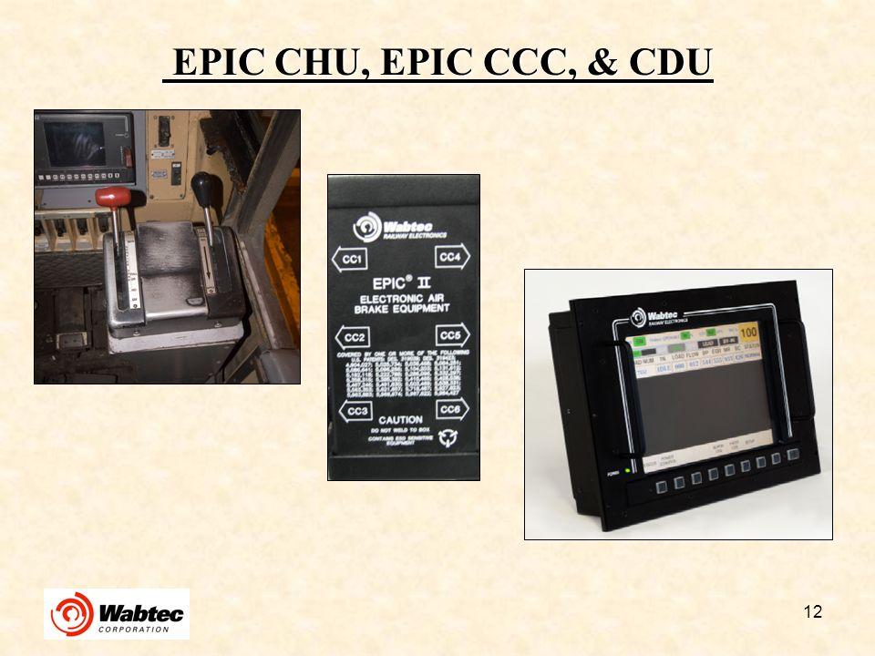 EPIC CHU, EPIC CCC, & CDU