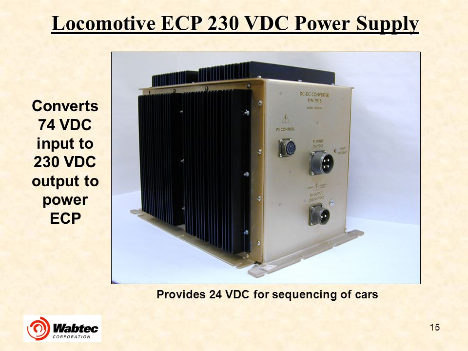 Locomotive ECP 230 VDC Power Supply