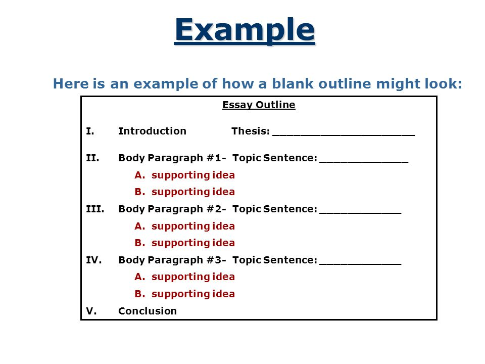 4 example - Outline Of Essay Example