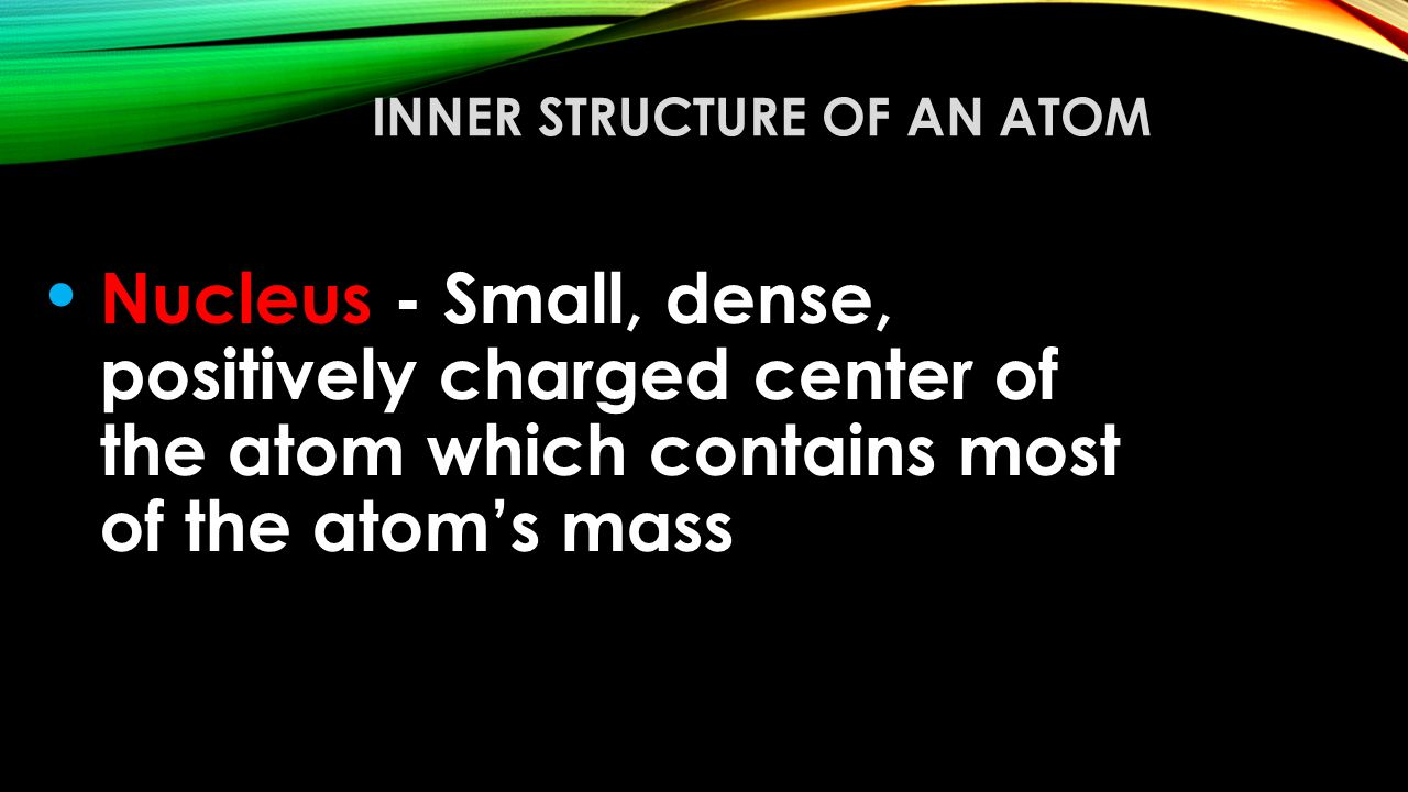 Inner Structure of an Atom