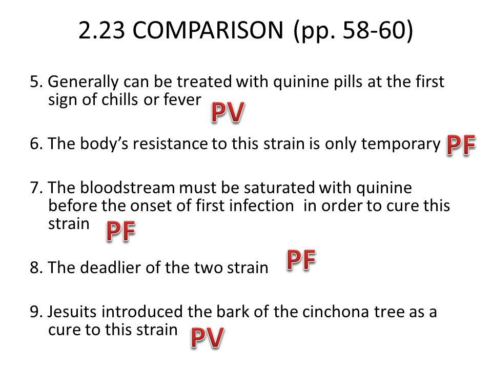 PV PF PF PF PV 2.23 COMPARISON (pp. 58-60)