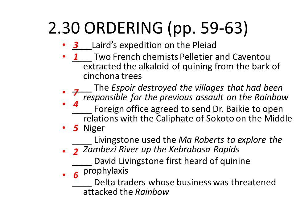 2.30 ORDERING (pp. 59-63) 3. 1. 7. 4. 5. 2. 6.