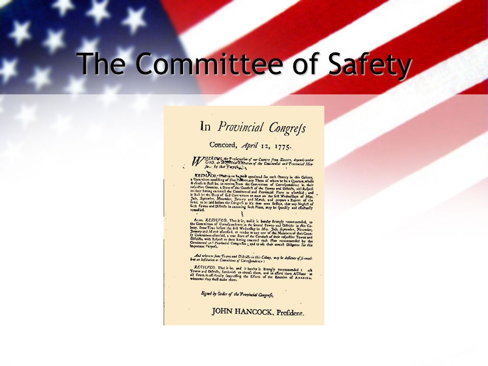 The Committee of Safety